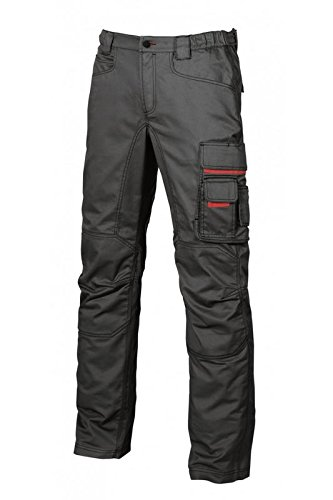 PANTALONI DA LAVORO SMILE UPOWER BLACK CARBON (54)