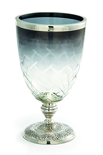 Chinelli Royal Britain Old Sheffield Vase, Argent, 16 x 16 x 28 cm