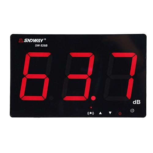 Schallpegelmesser, 30~130dB 9,6 inches großer LCD Bildschrim Display Wand Hängende Dezibel Noise Measuring Tester mit Datenlogger & Alarm