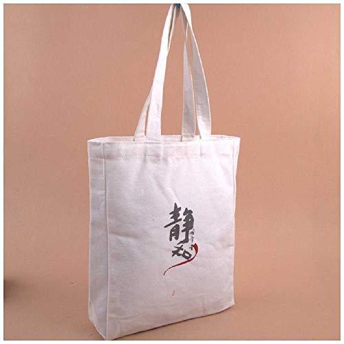 Lieferung von grüner Einkaufstückel-Tasche Kunst Malerei Studenten Falten gedruckte Baumwollhandtasche (Benutzerdefinierte Gedruckte Taschen)
