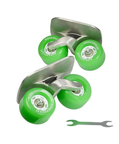 Freeline Drift Skates mit 70mm Räder und ABEC 7 Kugellager (Grün) -