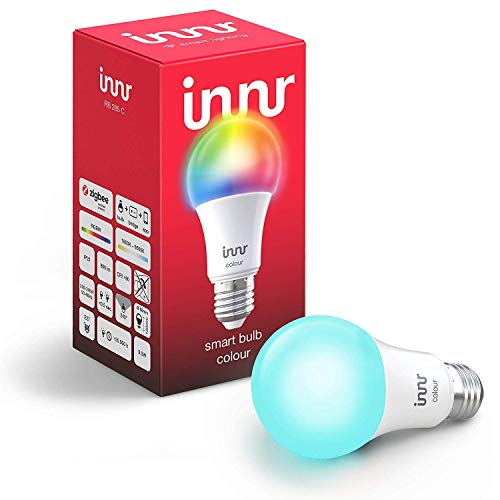 Innr Smart Bulb Colour E27, Works with Philips Hue* / Alexa / Google Assistant (Hub Required) (RB 285C)