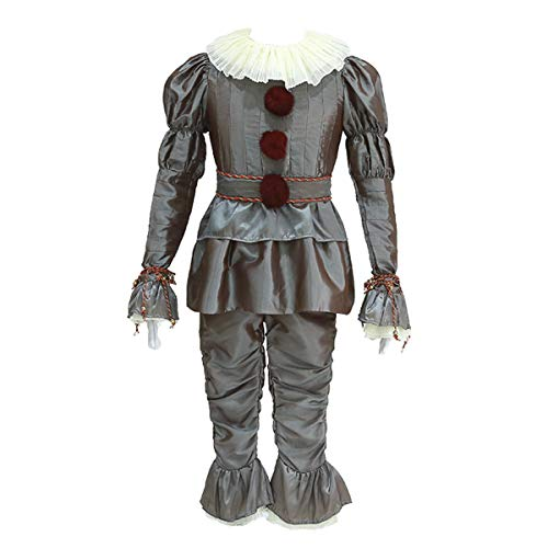 ne Tanzender Clown Joker Verkleidet Halloween Kostüm Party Outfit - Silber - XXX-Large ()