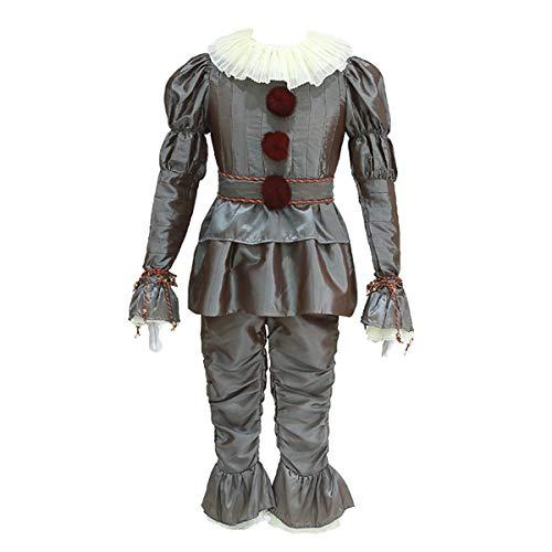 iCos Herren Erwachsene Tanzender Clown Joker Verkleidet Halloween Kostüm Party Outfit - Silber - XXX-Large (Die Joker Erwachsene Kostüme)