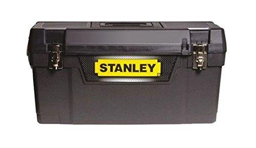 """Stanley Werkzeugbox Metall Latch 25"""", gummierte Metallschließen, ergonomischer Komfortgriff, Organizer, 1-94-859"""