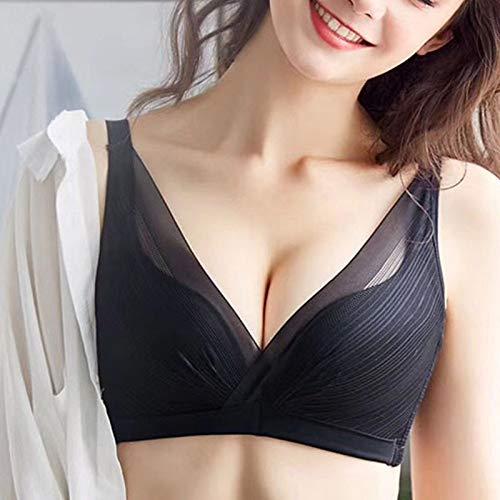 Tianyifeng Die Neue Nahtlose BH-Anpassungskollektion ohne Stahl schließt die Schwarze 70A-Unterwäsche für den Rücken der Brüste -