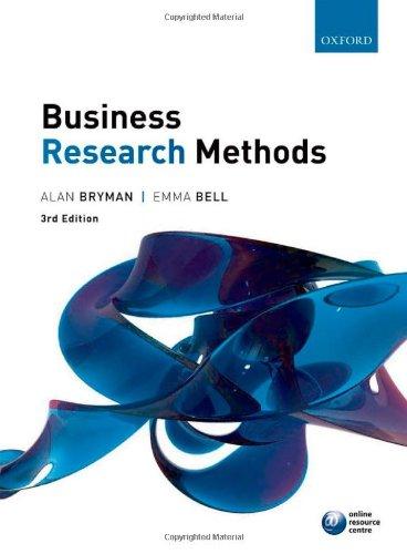 Business Research Methods par Alan Bryman