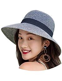 cosanter Donna Cappuccio estate spiaggia sole cappelli cappello di paglia  pescatore cappello di Sun UV Protection 3a6e18461f04