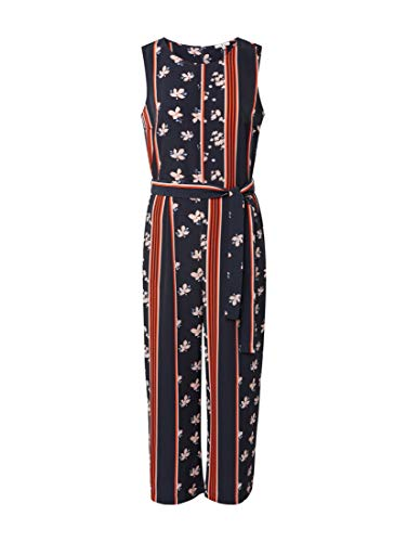 TOM TAILOR für Frauen Overalls & Jumpsuits Culotte-Jumpsuit Navy Stripe and Flower Design, 36