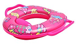AARA NET Infant baby Cushioned Potty Seat, Toilet Seat with Handle (Pink)