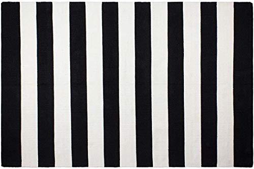 Fabhabitat Tapis intérieur extérieur Nantucket Noir et Blanc