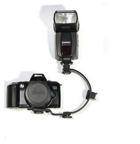 C-förmige Multi-Position Blitzschiene-Blitzschuhhalter für die Canon Nikon Olympus Fuji Panasonic Pentax DSLR