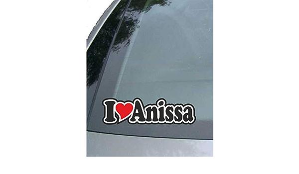 Indigos Ug Aufkleber Autoaufkleber I Love Heart Ich Liebe Mit Herz 15 Cm I Love Anissa Auto Lkw Truck Sticker Mit Namen Vom Mann Frau Kind Auto