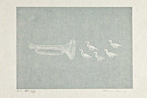 Max Ernst-'La ballata...'-Firmato e numerato a mano Vintage Lithograph-c1972(Rare HC)