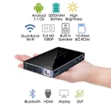 ExquizOn P8I Pico Video Projector Portable Android 7.0 Built in Wifi Connection