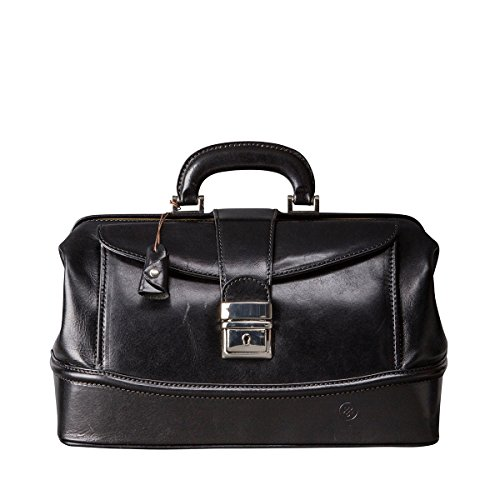 Maxwell Scott - Petit sac de docteur cuir italien noir (DonniniS)