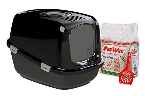 *PeeWee EcoDome – Katzentoilette – Starter-Paket Schwarz*