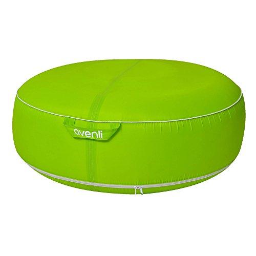Jilong Piscine Pouf avenli Garden Pouf I, Design Coussin d'assise Gonflable, imperméable, résistant aux UV et Anti moisissure, Vert