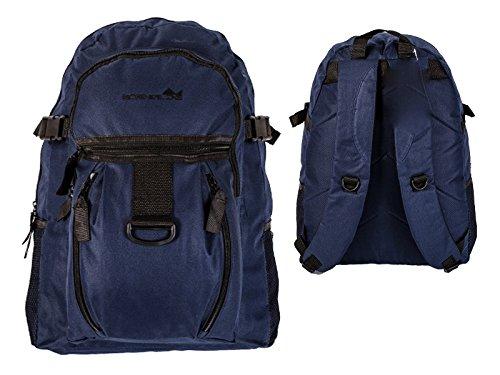 Premium Leather , Zaino Casual Donna Bambini Uomo Unisex adulti Unisex per bambini nero Black and Blue carry-on