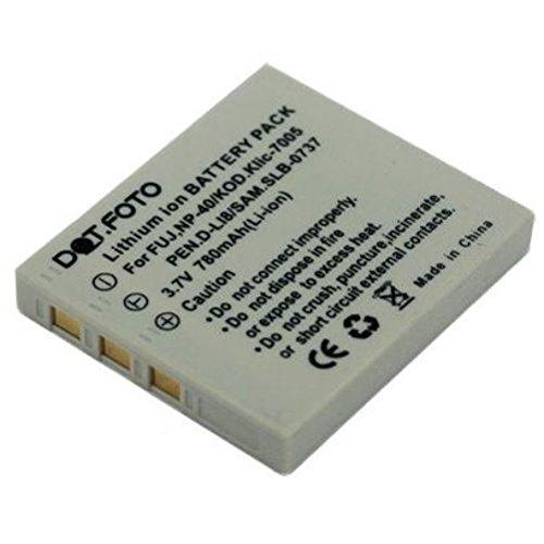 Dot.Foto Qualitätsakku für Fujifilm NP-40,NP-40N - 3,7v / 780mAh - Garantie 2 Jahre [Siehe Beschreibung für die Kompatibilität]