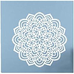 1 UNID Mandala Flor Dormitorio Indio Tatuajes De Pared Arte Pegatinas Mural Inicio Vinilo Impermeable ProteccióN del Medio Ambiente HOGAR Apliques De Oficina