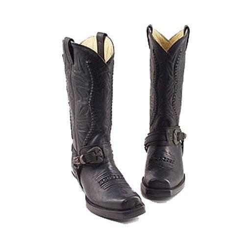 Rancho , Boots biker mixte adulte Noir - Noir