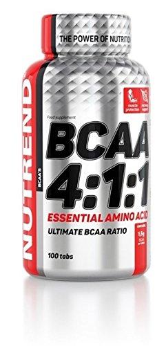 Nutrend BCAA 4: 1: 1-Verhältnis von 100 Tabs 1500 mg pro Tablette essentiellen verzweigtkettigen Aminosäuren L-Leucin, L-Isoleucin und L-Valin (BCAA)