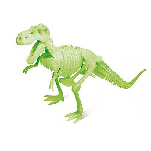 HQ Windspiration Geoworld CL573K - Dino Ausgrabungs-Set - T-Rex Glow in The Dark-Skelett, Alter: 6+, Modellgrößen: 34 cm, 17 cm Schädel