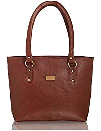 purses for women branded leather by EDGEKART | Stylish shinning PU Leather Handbag For Women and Girls - Brown