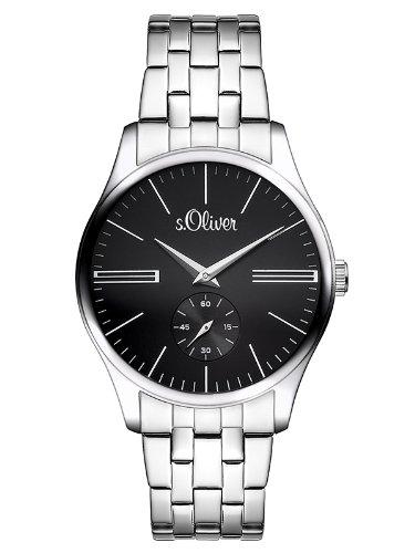 s.Oliver - SO-2867-MQ - Montre Homme - Quartz Analogique - Bracelet Acier Inoxydable Argent