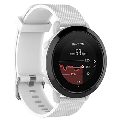 samLIKE Armband | für Suunto 3 Fitness | Weiches Silikon Band | Ersatzarmband | 230MM | 6 Farben (❤️ Weiß)