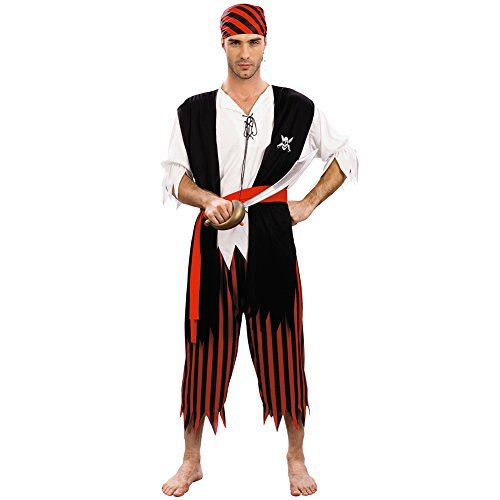 Piraten Kostüm Herren (54/56) (Billig Herren Piraten Kostüme)