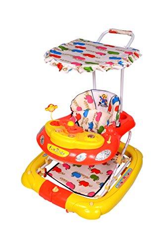 Ehomekart Funride Snoopy 7 in 1 Walker Cum Stroller for Kids, Red