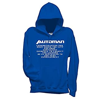 Sweatshirt Automan 80'S Serie Tv Games - FILM by Mush Dress Your Style - Herren-S-Blau