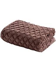 WLLLO Toalla de baño Absorbente Suave de Hecha de algodón Puro para Adultos con un paño