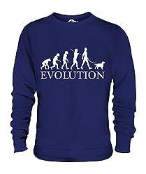 Candymix - Welsh Springer Spaniel Evolution Of Man - Unisex Sweatshirt Mens Ladies Sweater Jumper Top