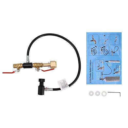 CO2-Zylinder-Nachfüllstation Befüllung Ladeadapter Werkzeug Flasche CO2-Tank Zubehör für Soda Maker Home Machine(G1/2(CGA320) 24