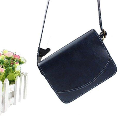 9b5689b6391b2 ... Honeymall Umhängetasche Imitation cuir Retro klein Damen asche Sattel Tasche  Handtasche Clutch Schultertasche Shoulder Bag( ...