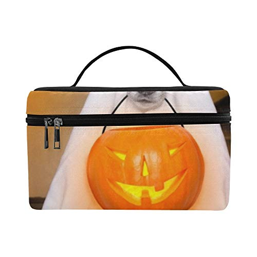 Hund Sit Ghost Halloween Haustür Lunchbox Tote Bag Lunch Holder Isolierte Lunch Cooler Bag Für Frauen/Männer/Picknick/Bootfahren/Strand/Angeln/Schule/Arbeit (Teen Angel Kostüm)