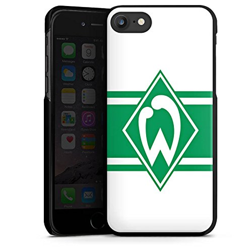 Apple iPhone X Silikon Hülle Case Schutzhülle Werder Bremen Wappen gestreift Fanartikel Hard Case schwarz