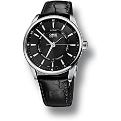 Reloj Oris Artix Pointer Day/Date, Oris 755, Negro, Correa de piel