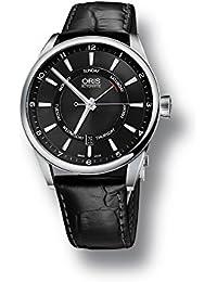 Oris Artix Pointer Day/Date Uhr, Oris 755, Schwarz, Lederband, 755 7691 4054