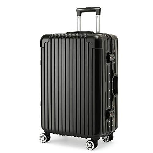 Rollende Laptop-Tasche, Handgepäck Super leichte ABS-Hartschalen-Reise Machen Trolley 4-Rollen-Koffer, Silber -