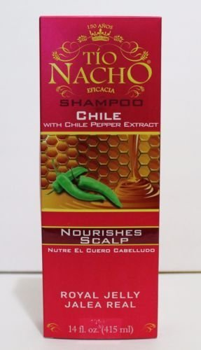 TIO NACHO Shampoo CHILE 14oz For Nourishes Scalp With Royal Jelly NEW PRODUCT (2 Pack) by Tio Nacho