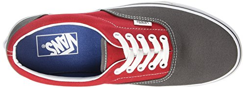 Zapatillas Deportivas Vans Low Athletic - Multicolor Unisex (2 Tonos / Peltre / Racing Rojo)