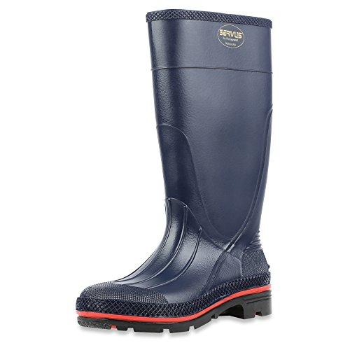 Servus Max 38,1cm PVC chemikalienresistent weichem Fuß Herren Arbeits-Stiefel, olive, grün & braun (75120), 75122-GYM-030 Navy, Red & Black