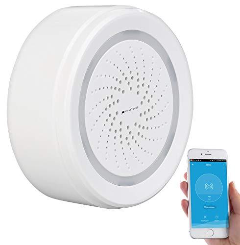 Alarm-sirene (VisorTech Alarmsirene: Alarm-Sirene mit WLAN & App, komp. zu Amazon Alexa & Google Assistant (Funk-Alarmsirene))