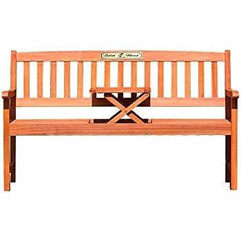 Gartenbank 3sitzer Aus Massivem Eukalyptusholz Mit Tisch