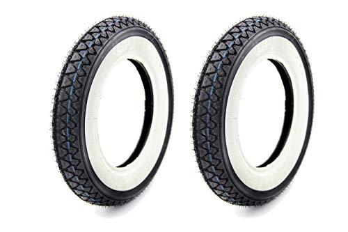 2 KENDA Weisswand Reifen - 3,50x10-51PR, 42J, TT K333 - für Roller (8)