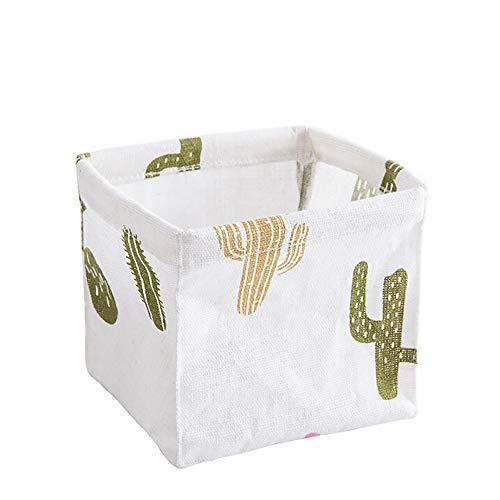 Harpily Baumwolle Leinen Aufbewahrungsbox Kinder Stoff Aufbewahrungsboxen Desktop AufbewahrungsbehäLter Ohne Deckel Ablagekorb Klein Faltbar Organizer Drucken Storage Basket